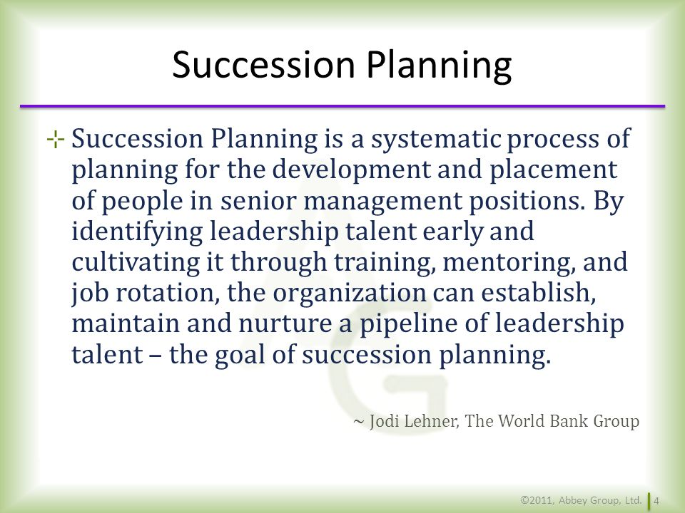 Solutions What to do when leaderships strategic logic breaks down, and the succession plan will come into play because of it.