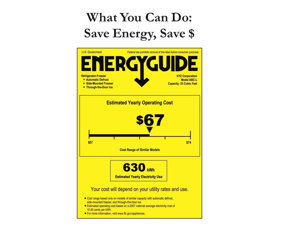 What You Can Do: Save Energy, Save $