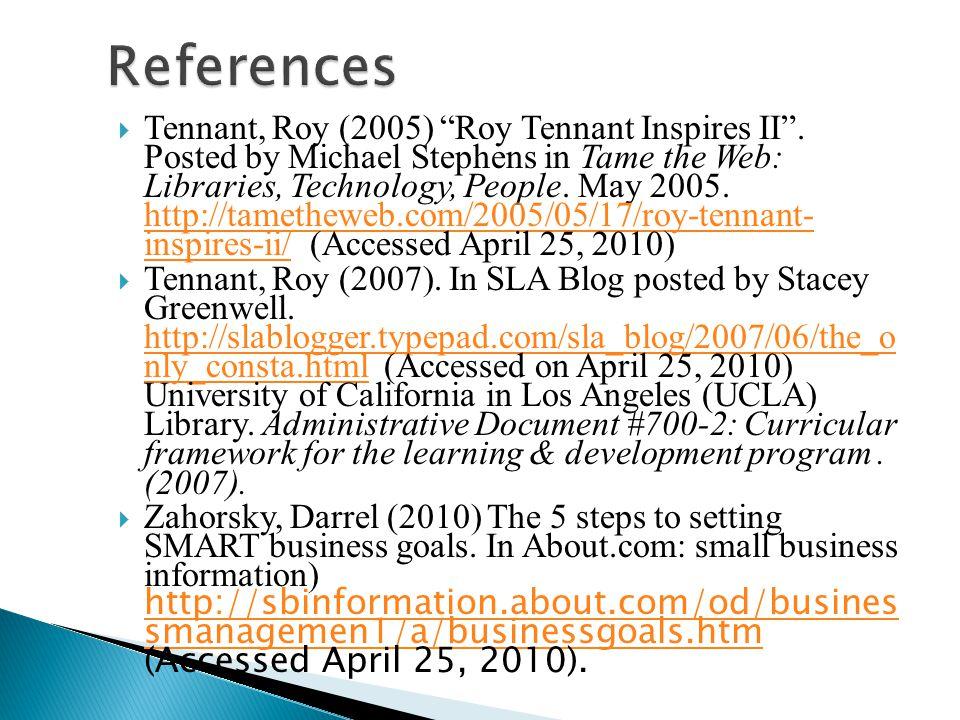 Tennant, Roy (2005) Roy Tennant Inspires II.