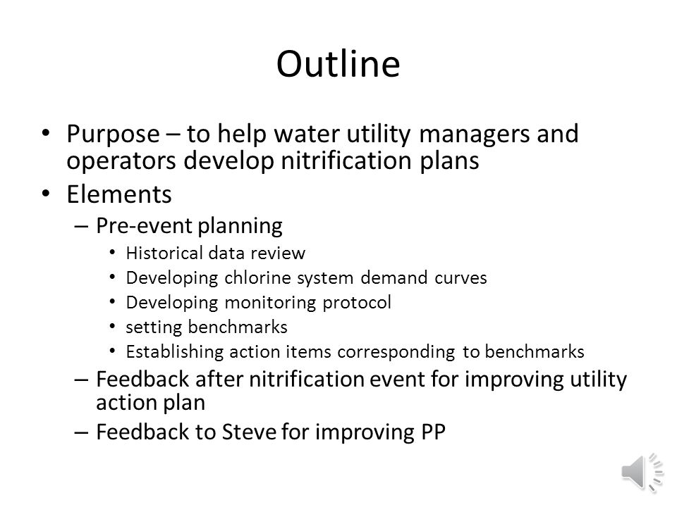 Water Utility Nitrification Plan Development version 3 (February 14, 2014) Steve Hubbs shubbs@coronaenv.com