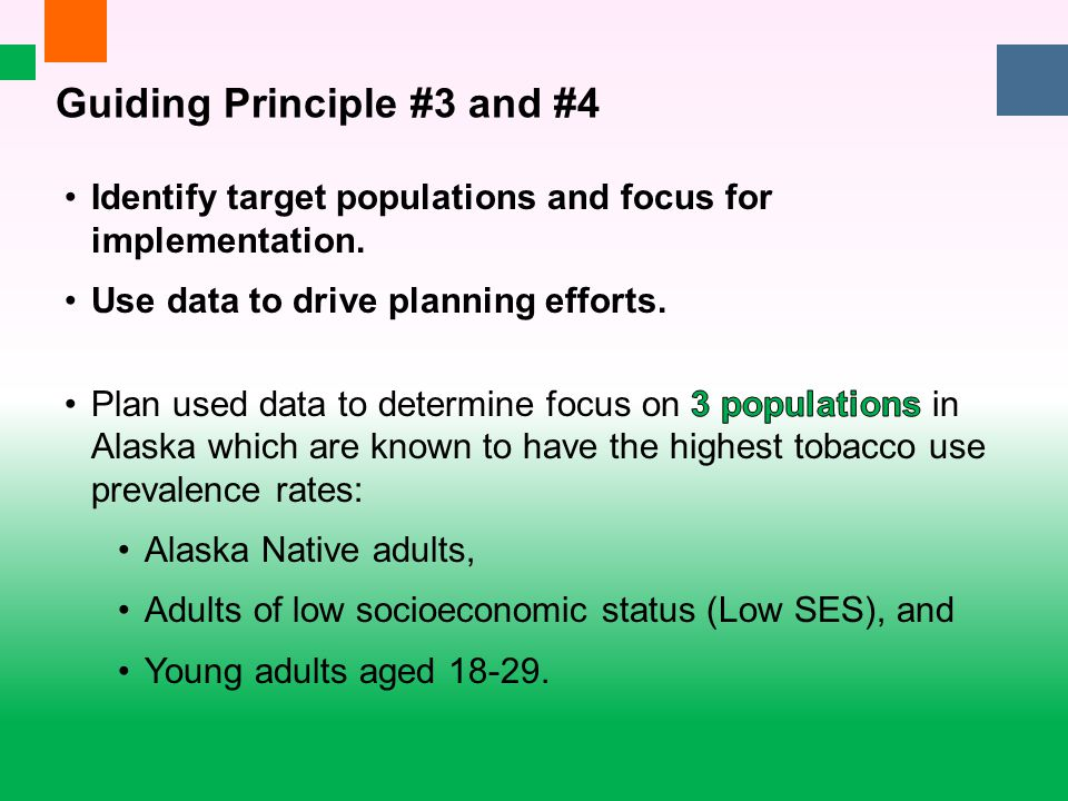Guiding Principle #3 and #4