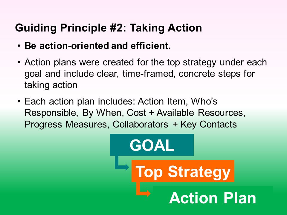 Be action-oriented and efficient.