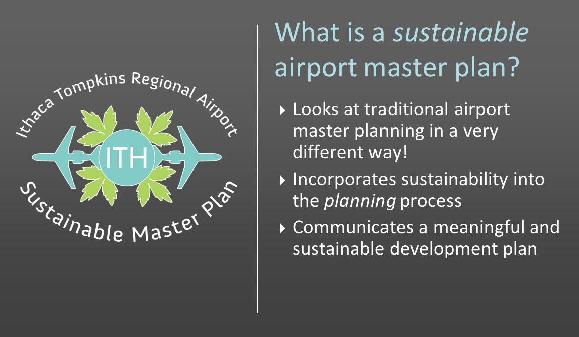 What is a sustainable airport master plan.