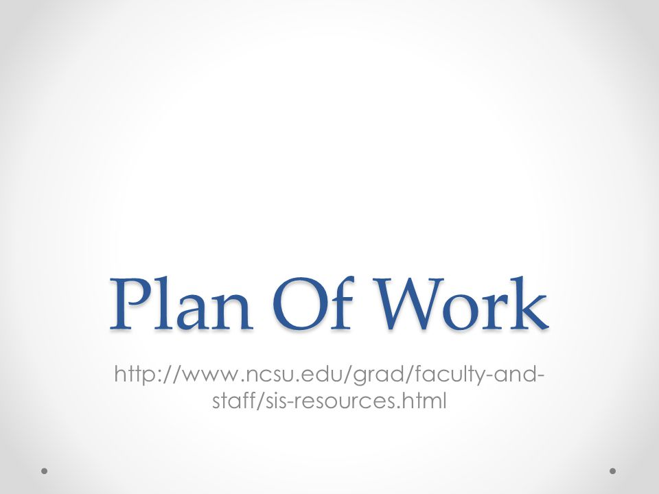 Plan Of Work   staff/sis-resources.html
