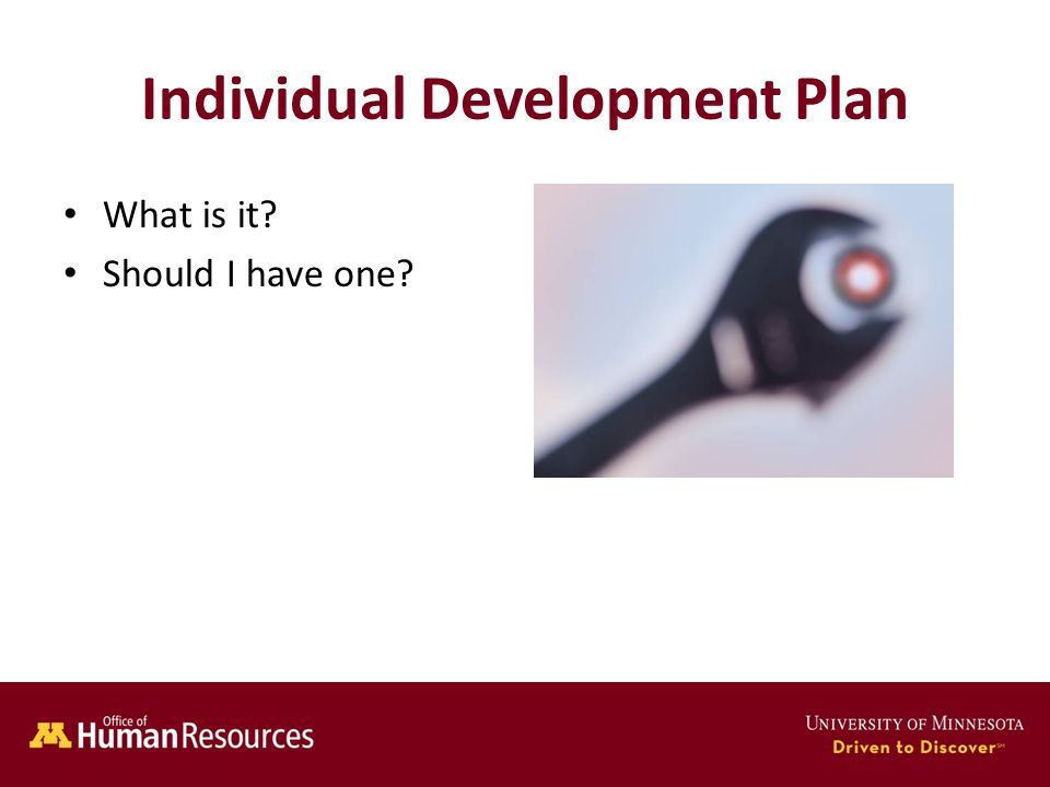 Human Resources Office of Individual Development Plan What is it Should I have one