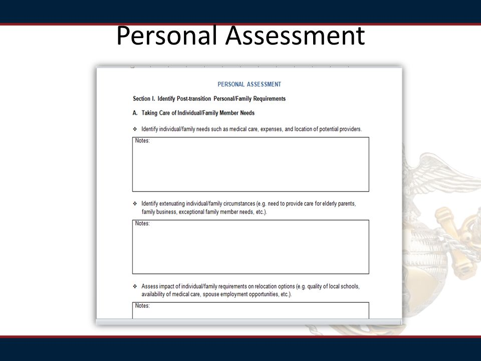 Personal Assessment