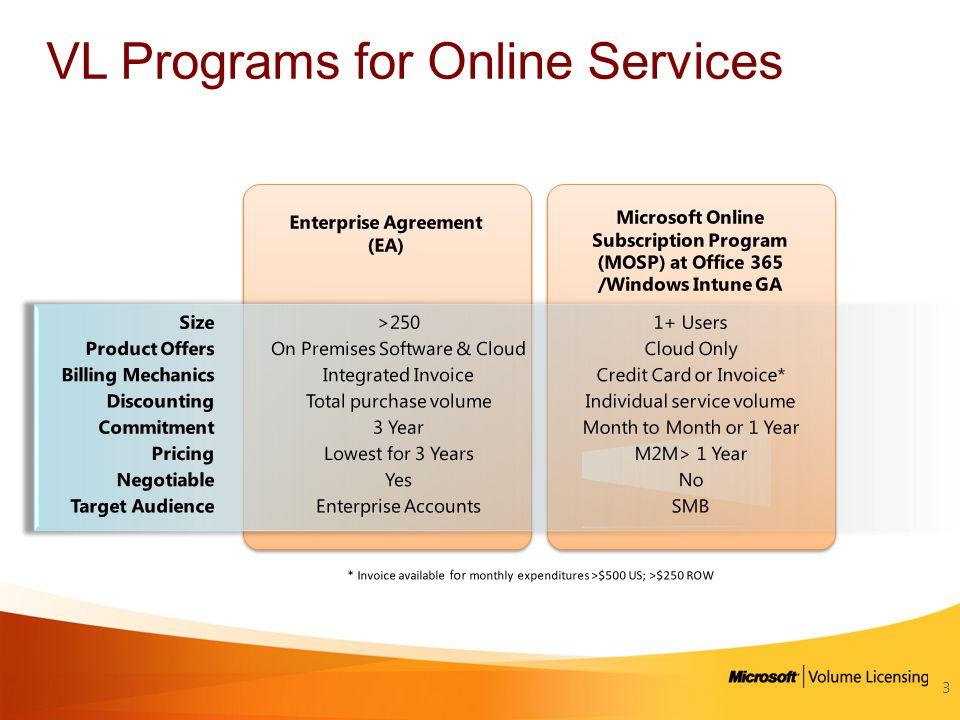 VL Programs for Online Services 3