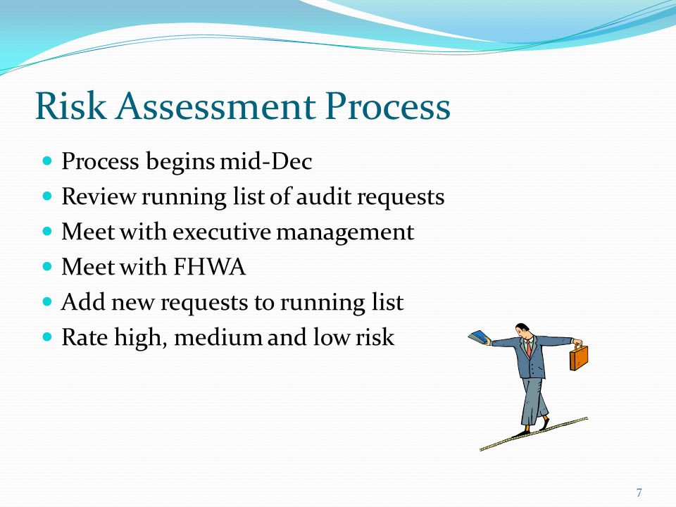 IR Audit Risk Assessment Top 5-7 high risk projects IR Audit Risk Assessment Template Assess level of risk for each project 8