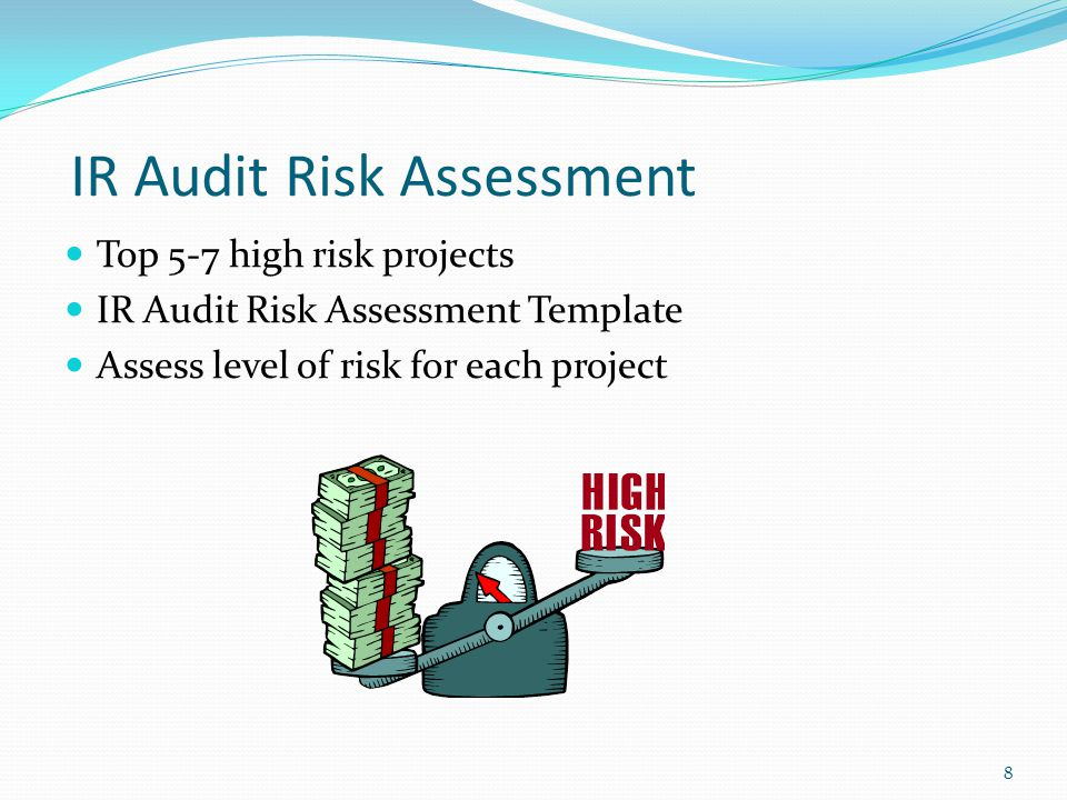Internal Audit Risk Assessment Criteria Weight Factor Value Extension Dollar Impact 5 >$ 10 mil.5 $ 5 mil.