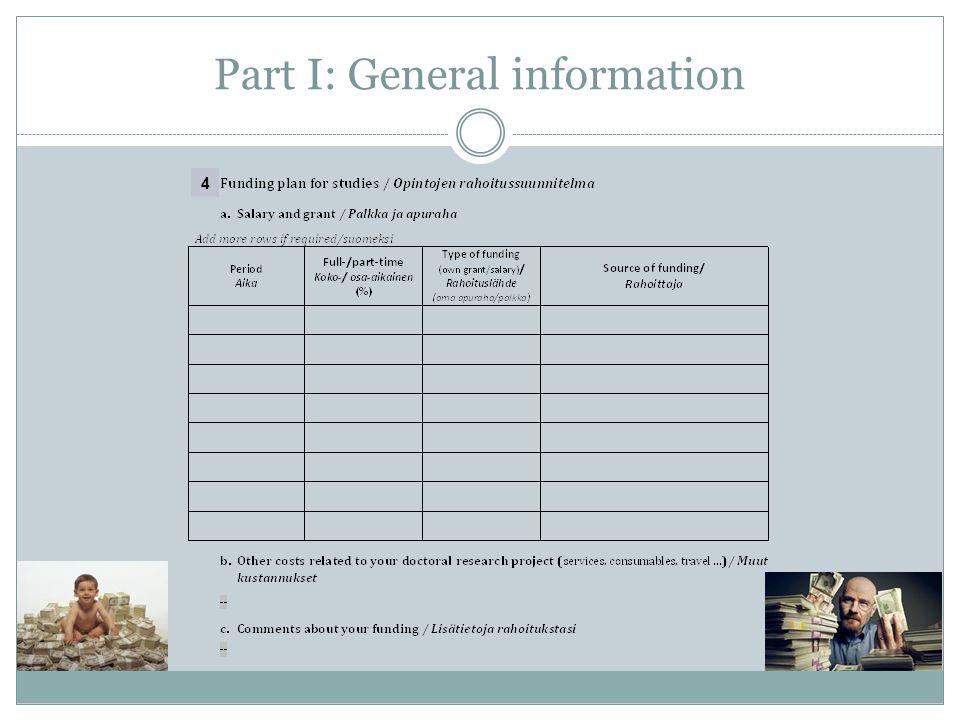 Part I: General information 4