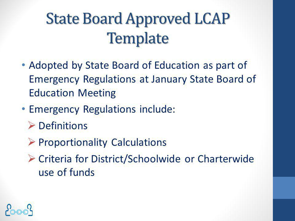 School Site Plans Specific actions included in the LCAP, or the annual update of the LCAP, must be consistent with the strategies included in school plans.