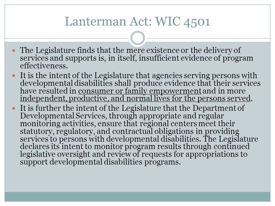 Lanterman Act: WIC 4502 Rights 4502.