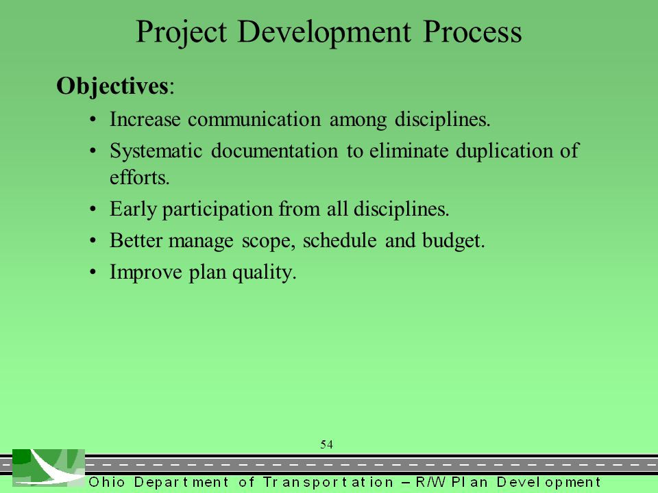 ODOTs Project Development Process PDP Objectives 3 Project Levels Steps within the Levels Corresponding Right of Way Activities and Section 1400 Locat
