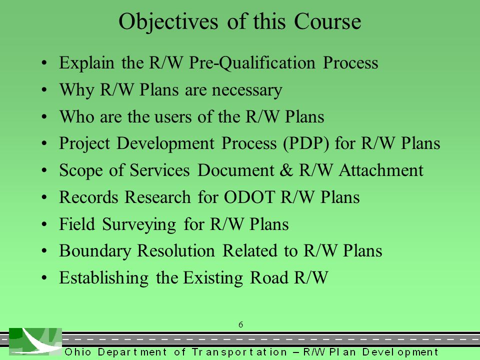 Getting prequalified if you DO NOT have ODOT R/W Plan experience.