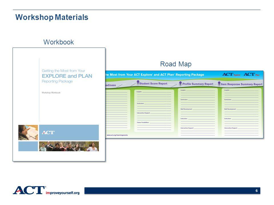 6 Workshop Materials Workbook Road Map