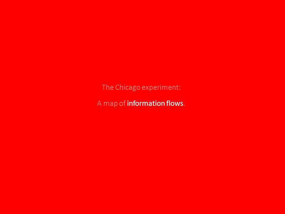 A map of information flows. The Chicago experiment: