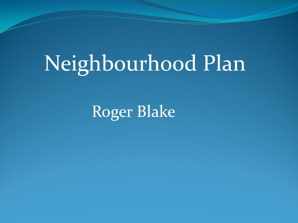 Roger Blake Neighbourhood Plan