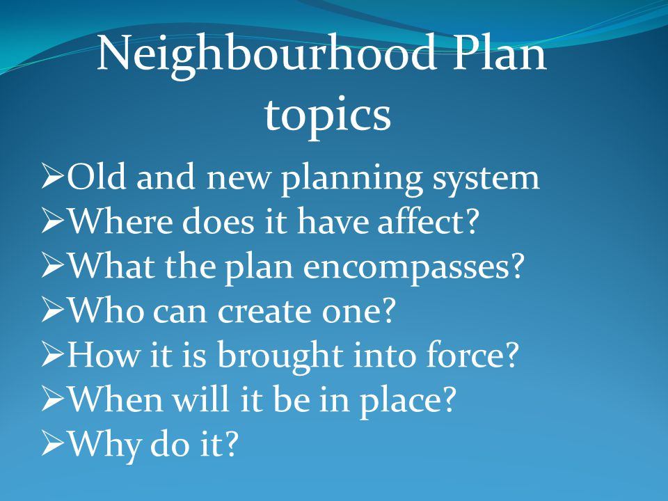 Old and new planning system Where does it have affect.