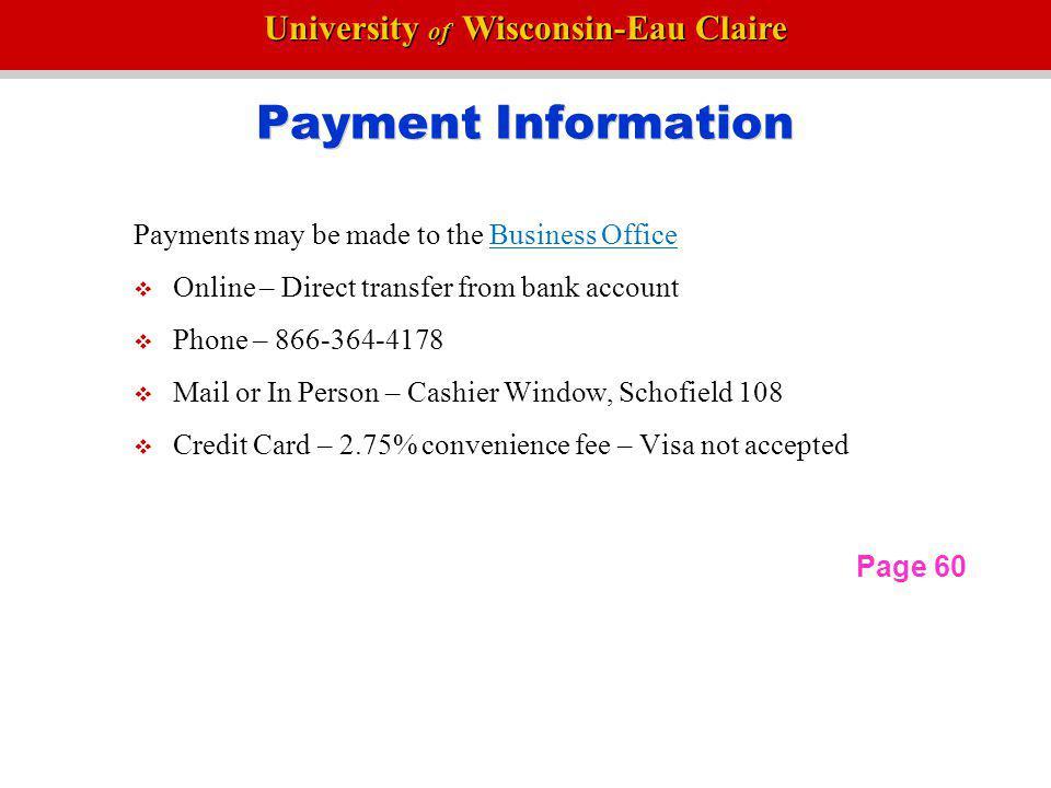 University of Wisconsin-Eau Claire Good Academic Standing 1.