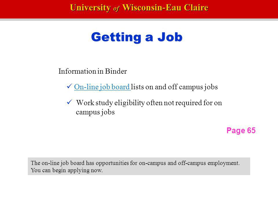 University of Wisconsin-Eau Claire Student Transfer Evaluation The Student Transfer Evaluation indicates how your courses transfer.