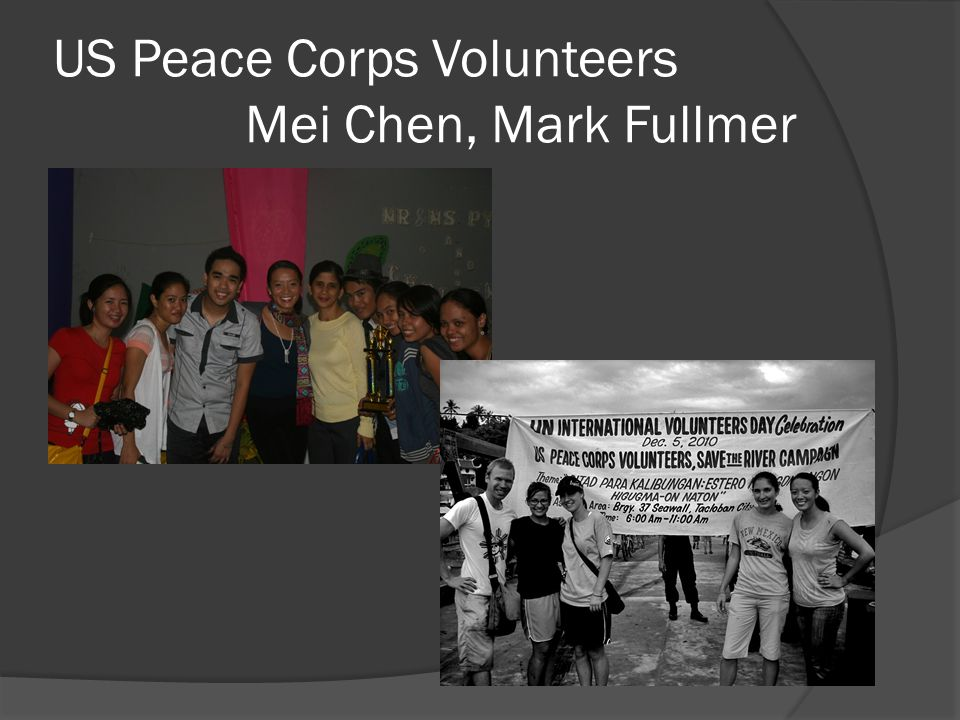 US Peace Corps Volunteers Mei Chen, Mark Fullmer