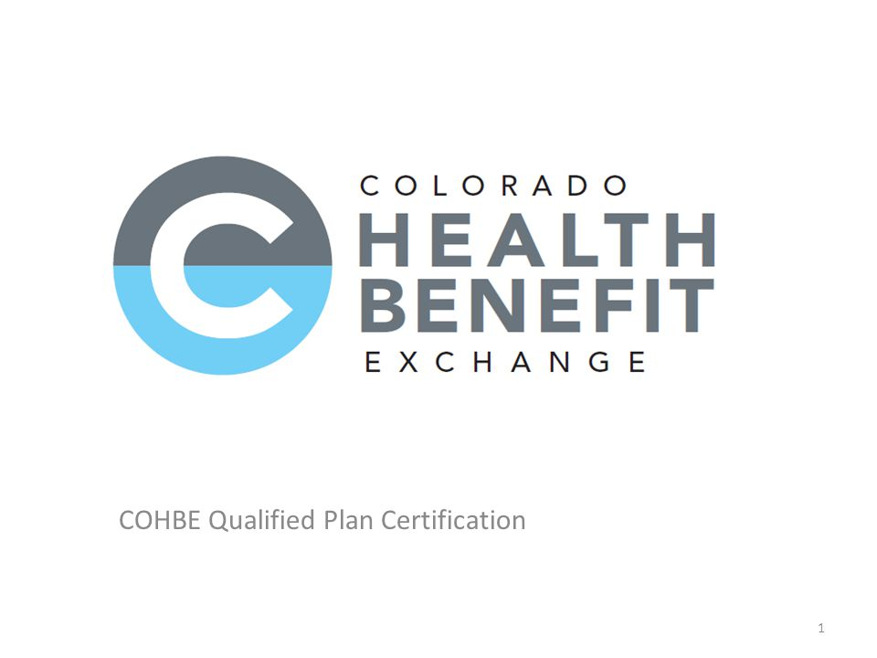 COHBE Qualified Plan Certification 1