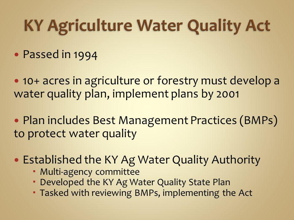 Anyone farming or raising trees on 10+ acres Anyone applying for cost share Kentucky Soil Erosion and Water Quality Cost Share Program (State cost share) NRCS Environmental Quality Incentives Program (EQIP) GOAP County Ag Investment Program (CAIP)