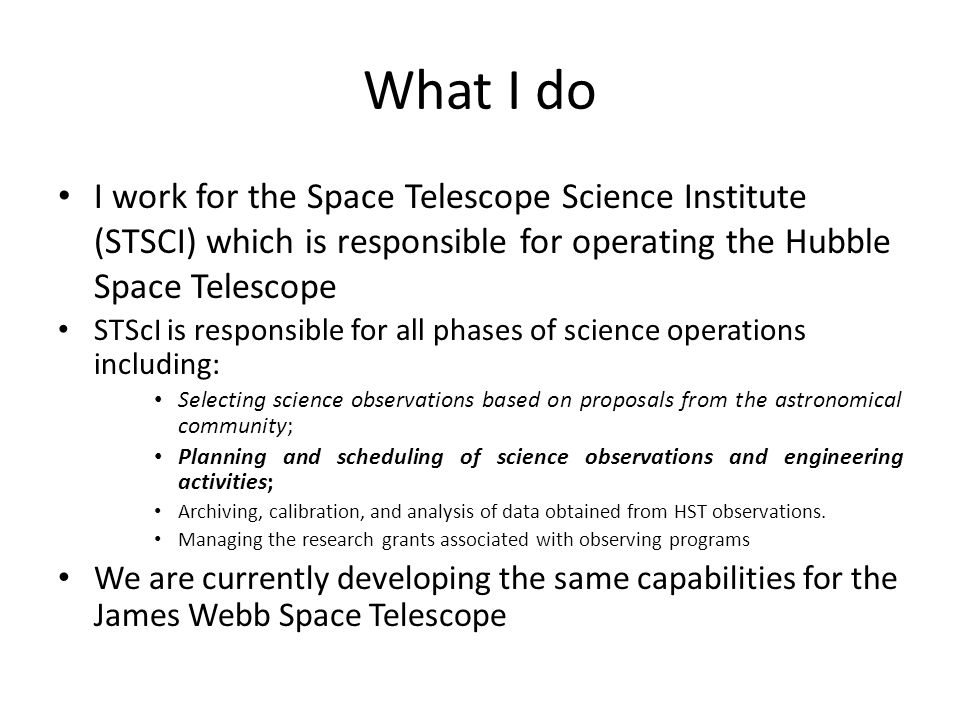 Goals of Todays talk To give you a basic understanding of the astronomical planning and scheduling domain – Features of astronomical missions – Astronomical planning and scheduling constraints – Use cases for planning and scheduling All given with an operational perspective Offer general advice on what makes a successful Operational planning and scheduling application