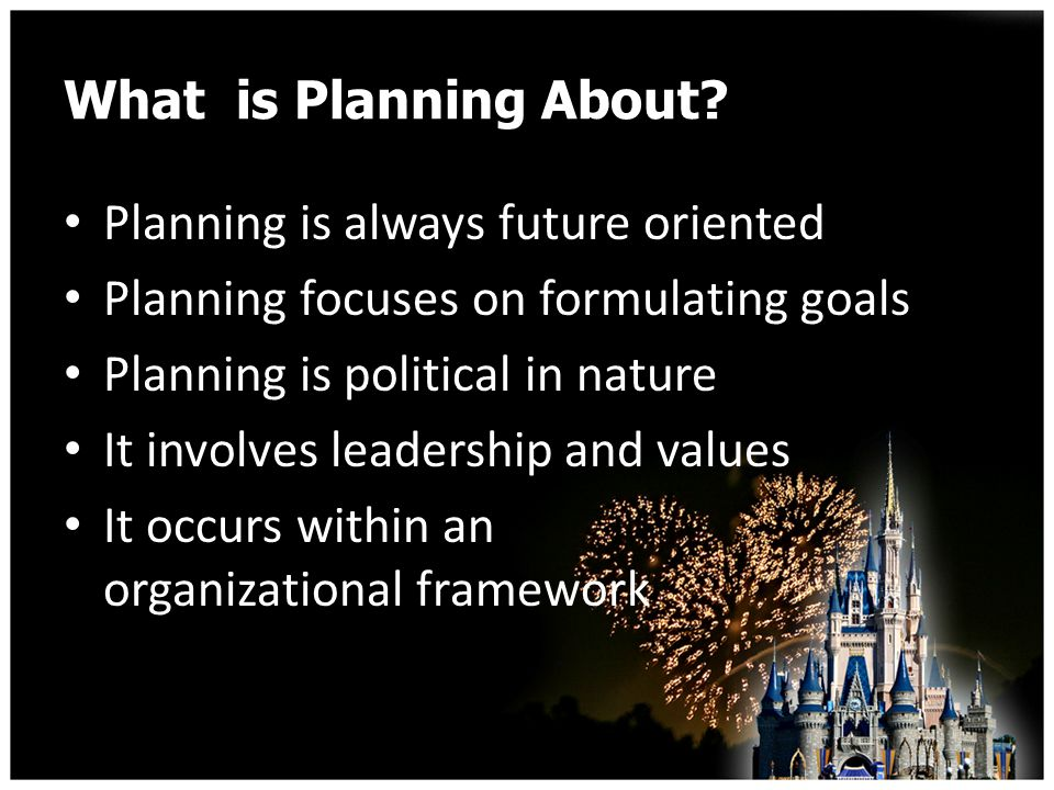 What is Planning About.