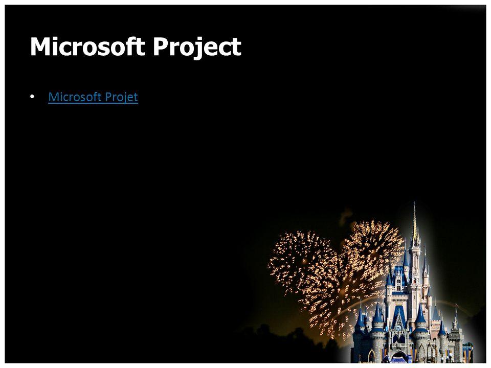 Microsoft Project Microsoft Projet