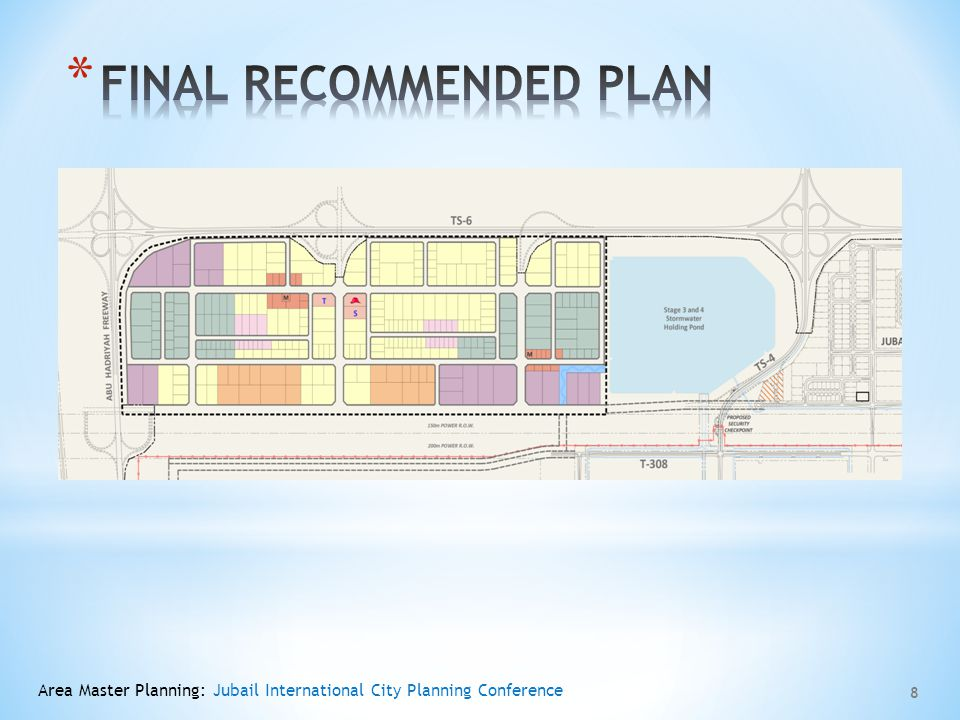 9 Before Mitigation After Mitigation Area Master Planning: Jubail International City Planning Conference