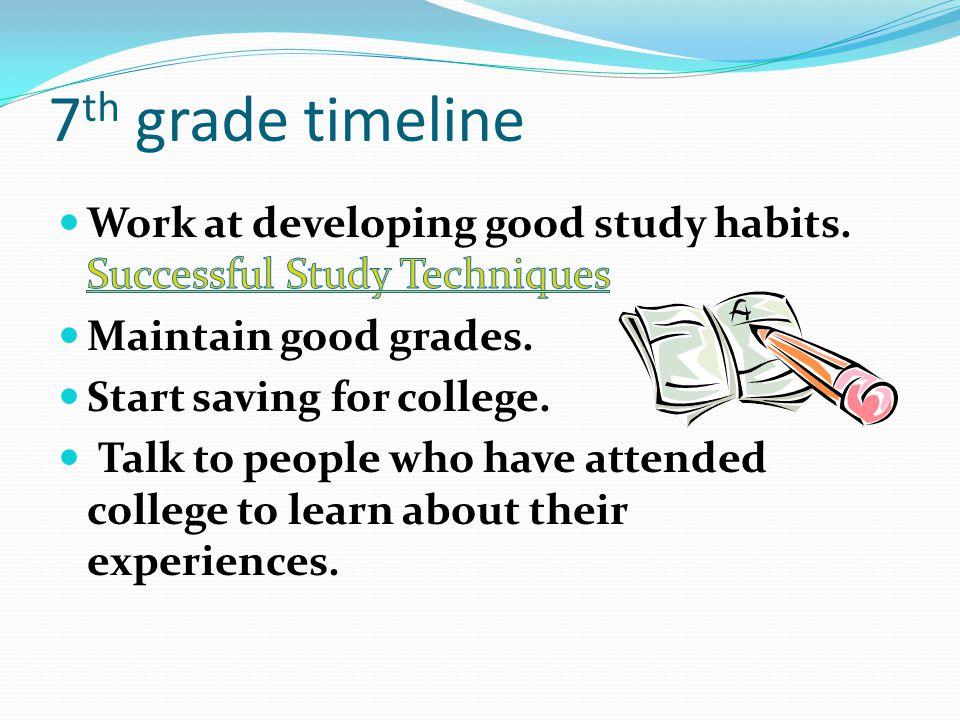7 th grade timeline