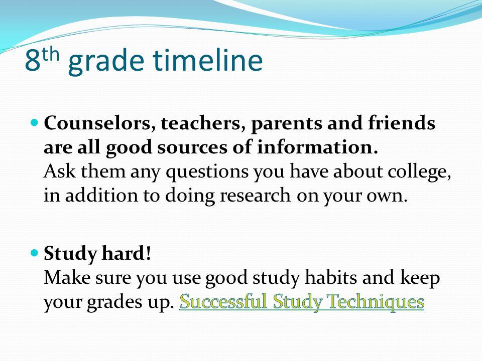 8 th grade timeline