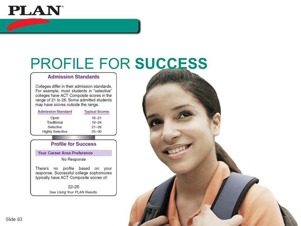 Slide 83 PROFILE FOR SUCCESS