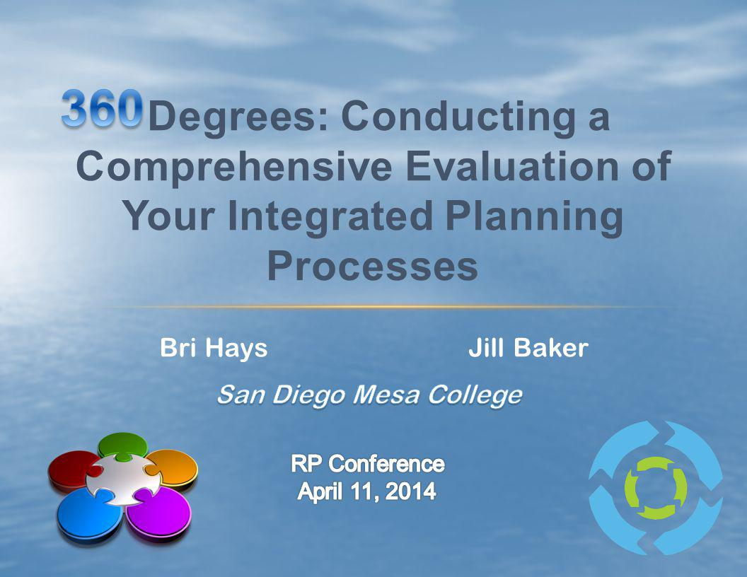 Bri Hays Jill Baker Degrees: Conducting a Comprehensive Evaluation of Your Integrated Planning Processes