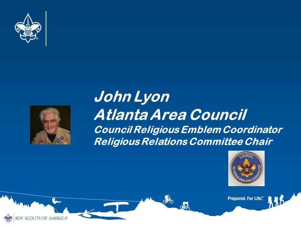 John Lyon Atlanta Area Council Council Religious Emblem Coordinator Religious Relations Committee Chair