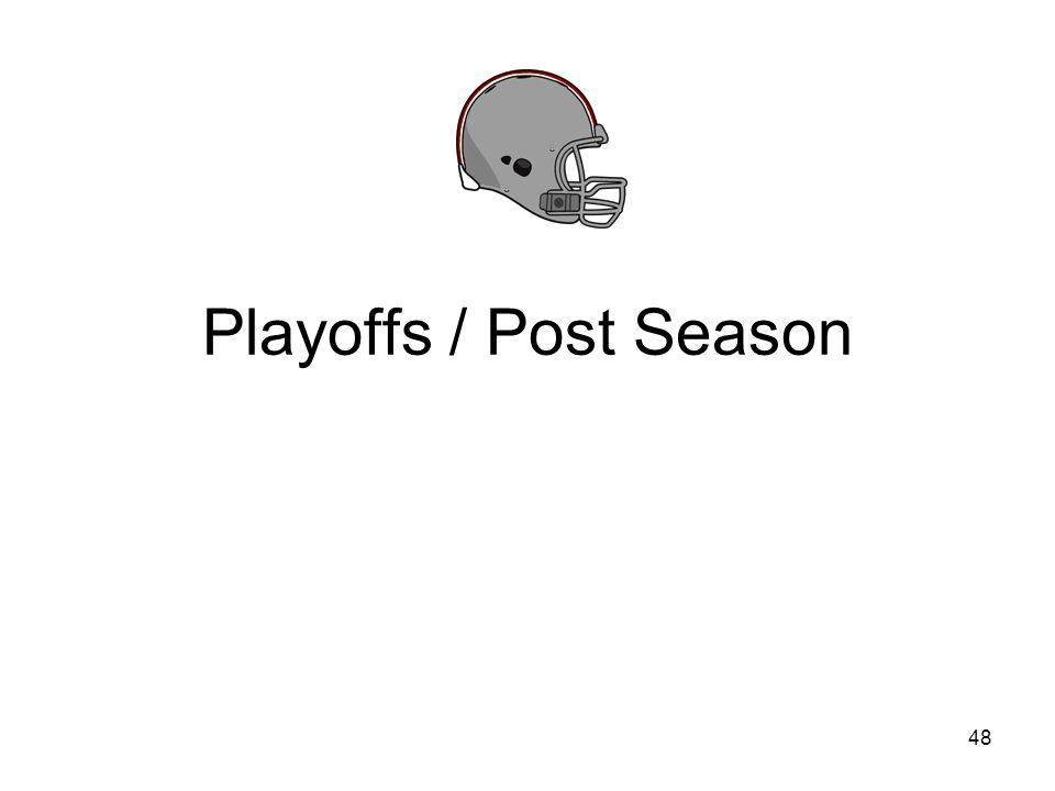 Playoffs / Post Season 48