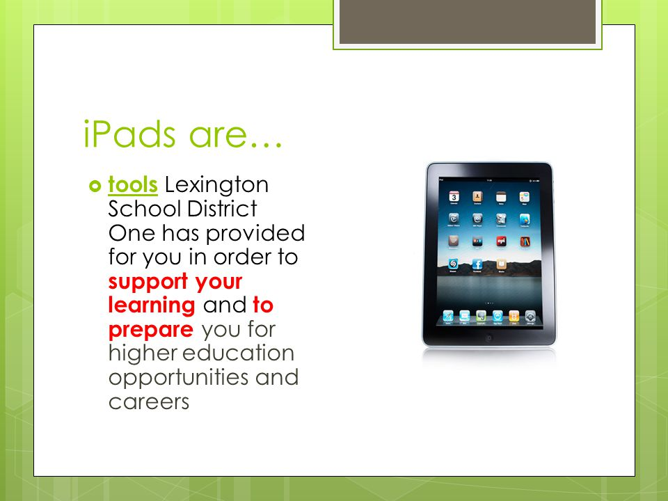 PHMS Apple Expectations Apples OFF – when entering a classroom, we turn our iPads OFF unless we are using them; we turn our iPads to sleep mode or power them off.