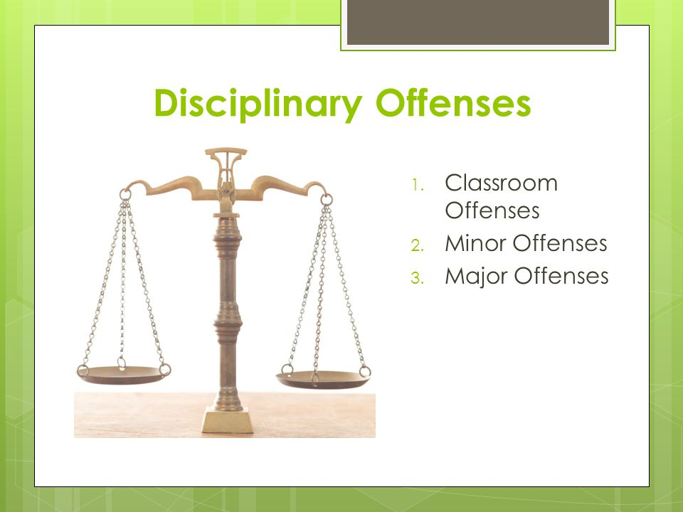 Classroom Offenses Improper use of device during instructional time ( using your iPad for something other than what the teacher is instructing you to use it for ) Unauthorized use of device during instructional time ( using it without your teachers permission ) DO NOT ARGUE ABOUT IT.