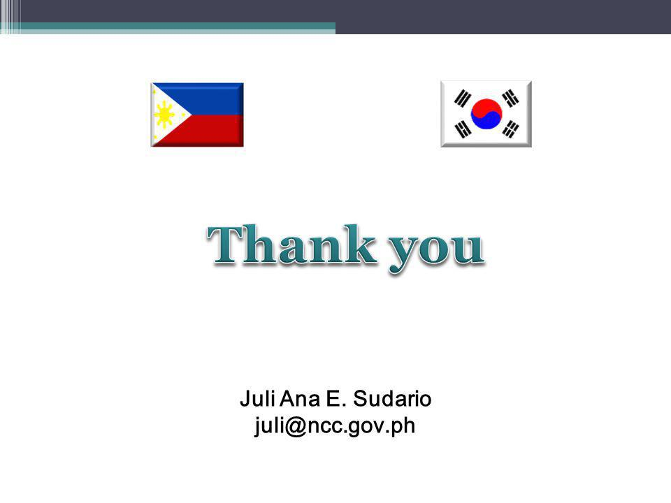 Juli Ana E. Sudario juli@ncc.gov.ph