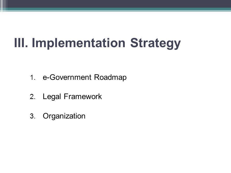 1.e-Government Roadmap III.