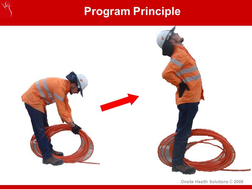 Onsite Health Solutions © 2008 Program Principle