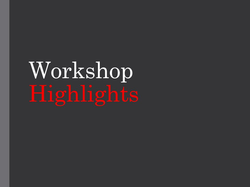 Workshop Highlights