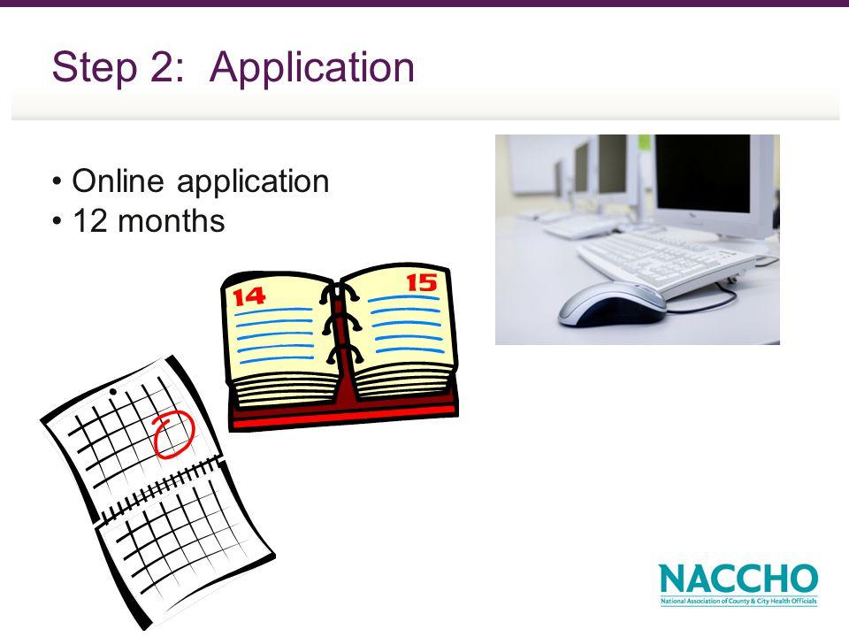 Step 2: Application Online application 12 months
