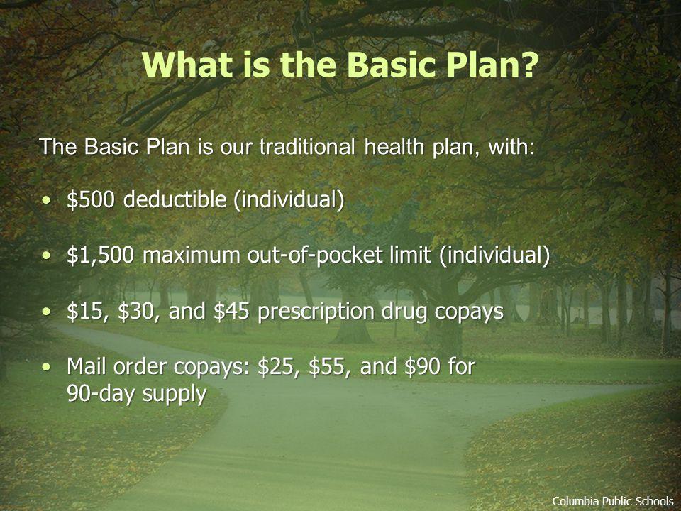 Medical Plan Enrollment Choices Basic Plan 1.