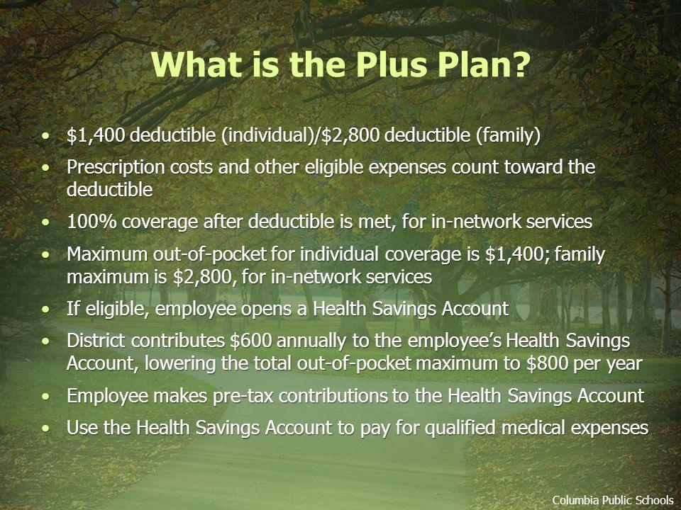 Medical Plan Enrollment Choices Plus Plan 1.