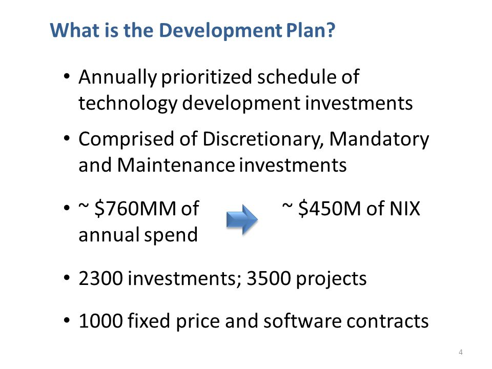 What is the Development Plan.