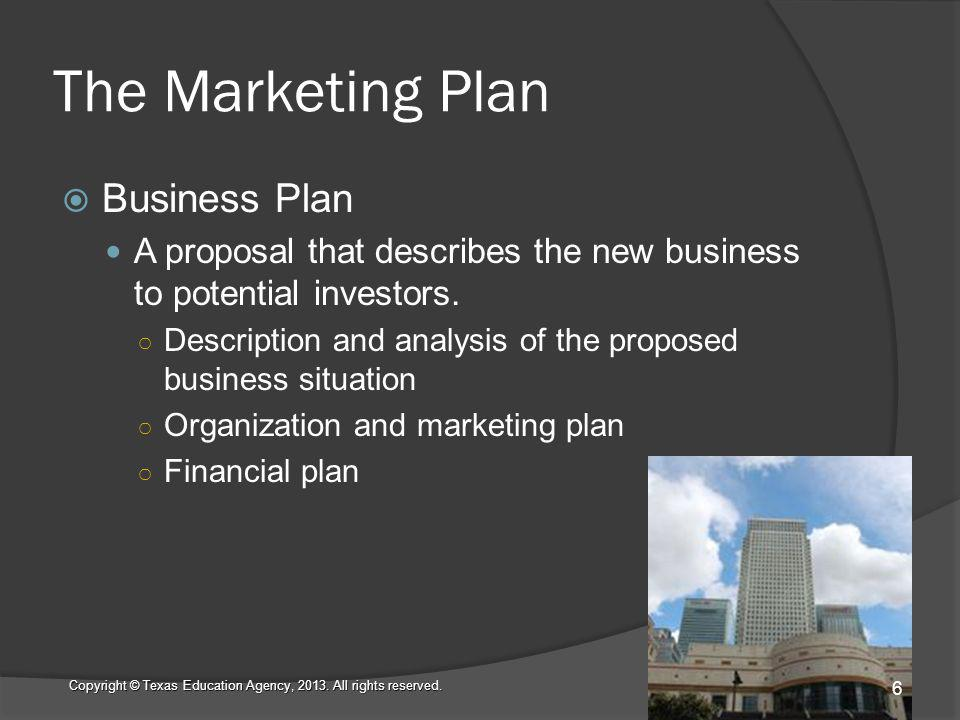The Marketing Plan Company Goals What do you want your company to accomplish.