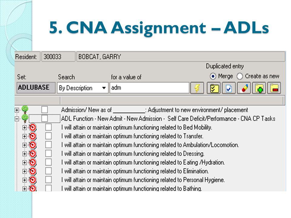 5. CNA Assignment – ADLs