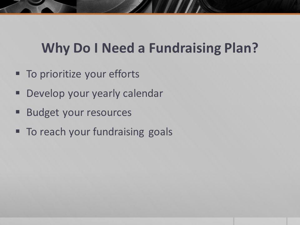 Why Do I Need a Fundraising Plan.